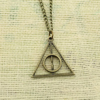 The Deathly Hallows Necklace Harry Porter jewelry Antique Gift