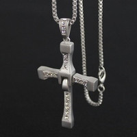 The fast and The furious dominic&#x27;s CROSS PENDANT Necklace Vin Diesel NEW