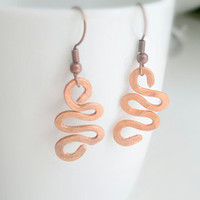 Free shipping Copper wire wrought earing  by theflowerdesign