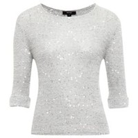 Sparkle sequin fine knit jumper