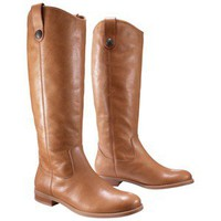 Women's Merona® Kasia Leather Riding Boot - Tan/Natural 9