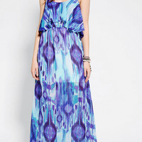 Staring At Stars Chiffon Ruffle Top Maxi Dress