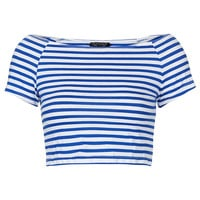 Stripe Bardot Crop - New In This Week - New In - Topshop
