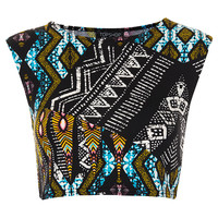 Tribal Aztec Crop Tee - Bralets &amp; Cropped Tops - Jersey Tops - Clothing - Topshop USA