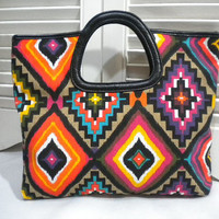 HandClutch Bag in Navajo Inspired Design by maycascollection