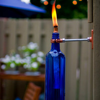 diy project: eriks recycled wine bottle torch | Design*Sponge
