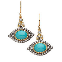 Jordan Scott Turquoise Evil Eye Drop Earrings - Max and Chloe