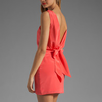 BEC&amp;BRIDGE Sabine Reversible Drape Dress in Coral from REVOLVEclothing.com