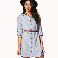 Essential Shirt Dress w/ Belt