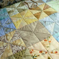Mini Quilt Peaceful Pastels 16 x 20 Wallhanging or Table Topper | QuiltTops - Quilts on ArtFire