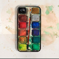 Watercolor Set iPhone Hard Case / Fits iPhone 4 4s by CRAFIC