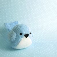 Light Blue Bird Stuffed Animal by bubbletime on Etsy