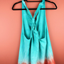 Teal and Orange Ombre Racer-back Tank
