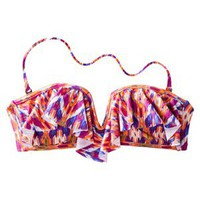 Xhilaration Junior&#x27;s Ruffle Bandeau Swim Top -Geometric Print