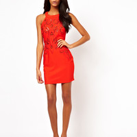 Lipsy Halterneck Bodycon Dress with Embellishment