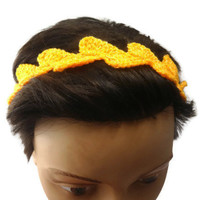 Crochet headband light Spring Summer headband