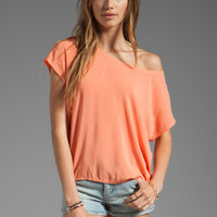 Splendid Shirting Tee in Apricot from REVOLVEclothing.com
