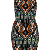 Petite Tribal Bodycon Dress - Petite - Clothing - Topshop