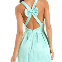 Bow-Back Pleated A-Line Dress: Charlotte Russe