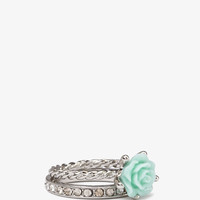 Carved Rose Ring Set
