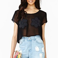 Double Daisy Crop Tee