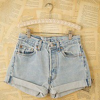 Free People  Vintage Levi&#x27;s Denim Cutoffs at Free People Clothing Boutique