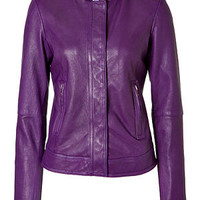 Etro - Purple Leather Jacket