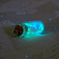 Magic Glowing Sand Glow in the Dark Miniature Glass by Clover13