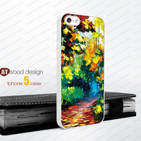 iphone 5 cases Colors Rubber case  painting rain and tree Hard caseiphone 4 case iphone 5 cover the best iphone case unique design