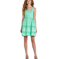Jessica Simpson Mixed Media Dress | Dillards.com