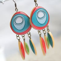 Tribal Indian earrings  Boho chic  Free shipping  by SecretFind