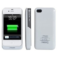Amazon.com: Baixt iphone 4 / 4s External Rechargeable Spare Backup Extended 2200 mAh Battery Charger Pack Case Cover for Apple iphone 4s White: Cell Phones &amp; Accessories