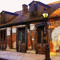 French Quarter Architecture, Lafitte Blacksmith Shop, Art New Orleans Fine Art Print, 4x6 Fine Art
