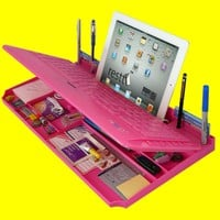 Bluetooth 6 in 1 Keyboard and Organizer with Tablet Stand