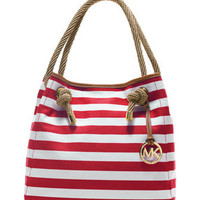 MICHAEL Michael Kors  Large Marina Striped Grab Bag
