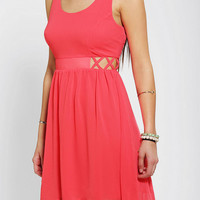 Sparkle &amp; Fade Chiffon Lattice-Side Dress