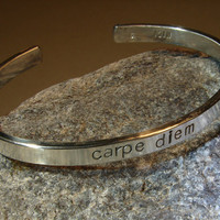 Carpe Diem bracelet in sterling silver