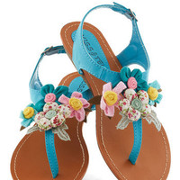 Crafty Afternoon Sandal in Teal | Mod Retro Vintage Sandals | ModCloth.com