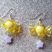 Star Candy II - Sweet Pastel Charm Earrings from On Secret Wings