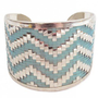 Turquoise Woven Chevron Cuff Bracelet