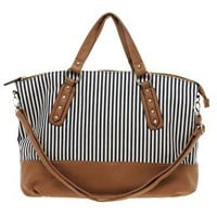 New Look Canvas Donovan Stripe Shopper at asos.com
