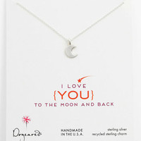 Dogeared &#x27;Love - To the Moon &amp; Back&#x27; Pendant Necklace | Nordstrom