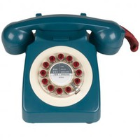 746 Phone Blue and Cream,