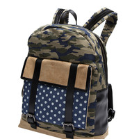 Camo x Polka Dot Denim Backpack - Timo Weiland e-Shop