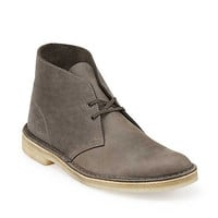 Desert Boot-Men in Grey Leather - Mens Boots from Clarks