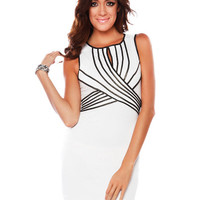 Papaya Clothing Online :: PIPING CONTRAST BODYCON DRESS
