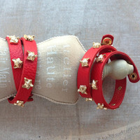 Pree Brulee - Red Fox Stud Wrap Bracelet