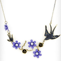Birds &amp; Branches Necklace in Lilac