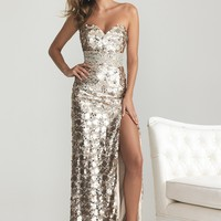 Night Moves 6755 Light Gold Dress
