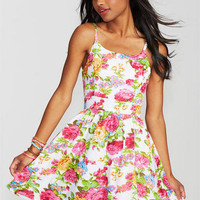 Zip Back Floral Dress